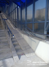 Перила для инвалидов. перила с вертикальным заполнением, Надземный переход, Аминьевское Шоссе